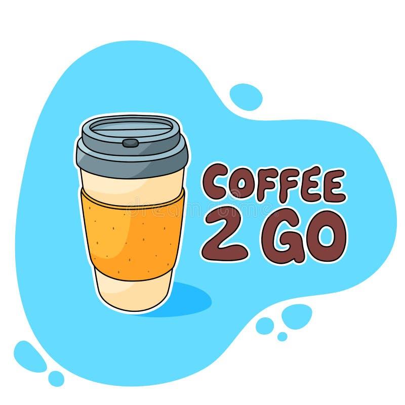 Le café 2 vont tasse images stock