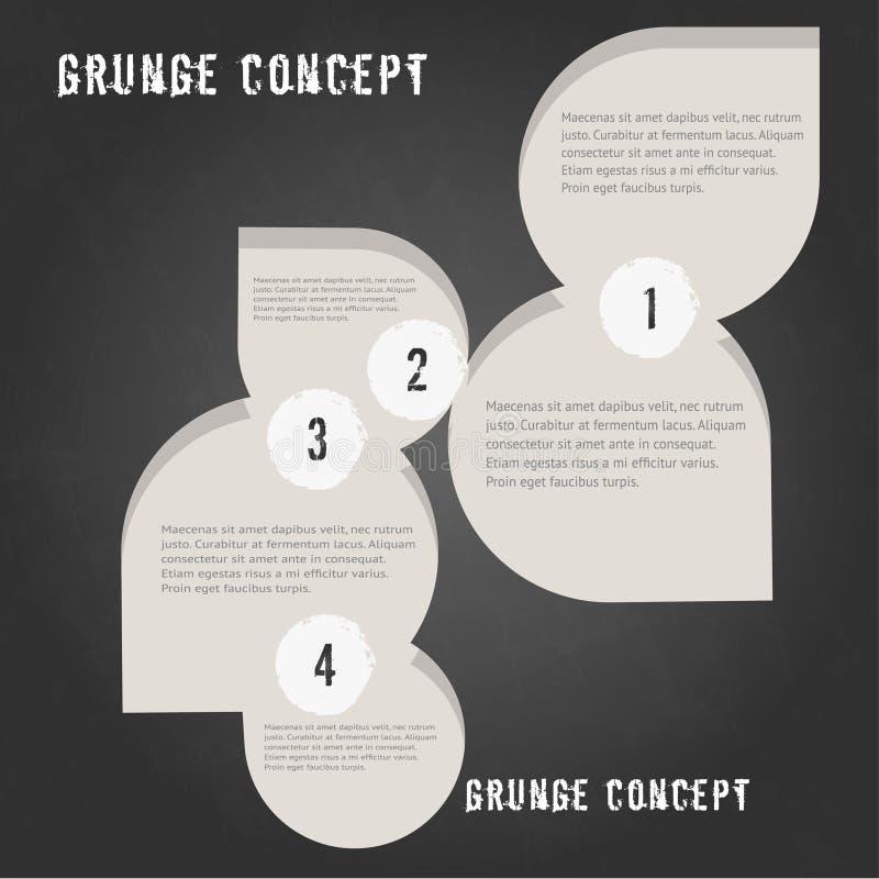 Le calibre étape-par-étape infographic minimal sur le fond texturisé grunge, peut être employé pour l'infographics, les bannières photographie stock