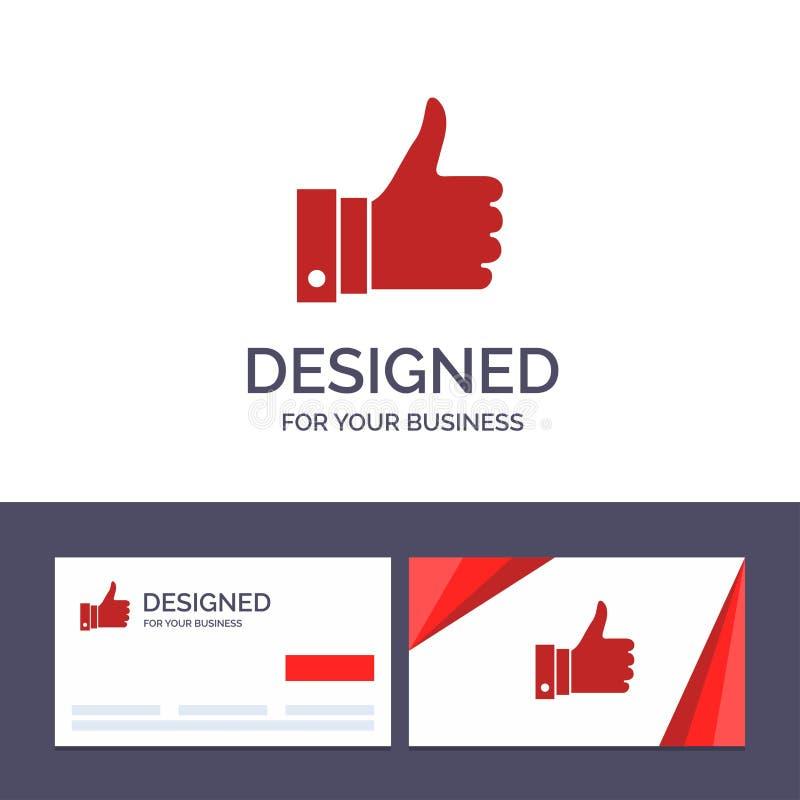 Le calibre créatif de carte de visite professionnelle et de logo de visite apprécient, des remarques, bonnes, comme l'illustratio illustration de vecteur