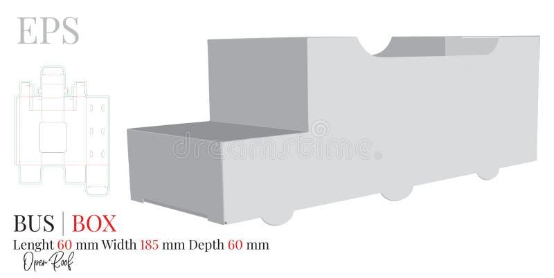 Le calibre d'autobus, vecteur avec découpé/laser avec des matrices a coupé des couches Blanc, clair, blanc, autobus de papier d'i illustration de vecteur