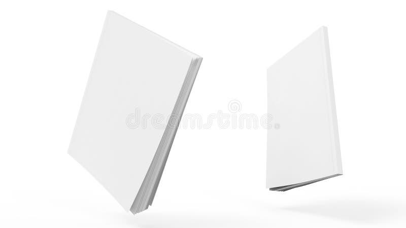 Le calibre 3d bilatéral de maquette de couverture de livre rendent images stock
