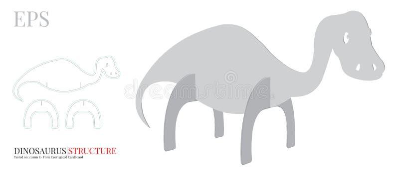 Le calibre de dinosaure, vecteur avec découpé/laser avec des matrices a coupé des couches Dino Illustration illustration de vecteur