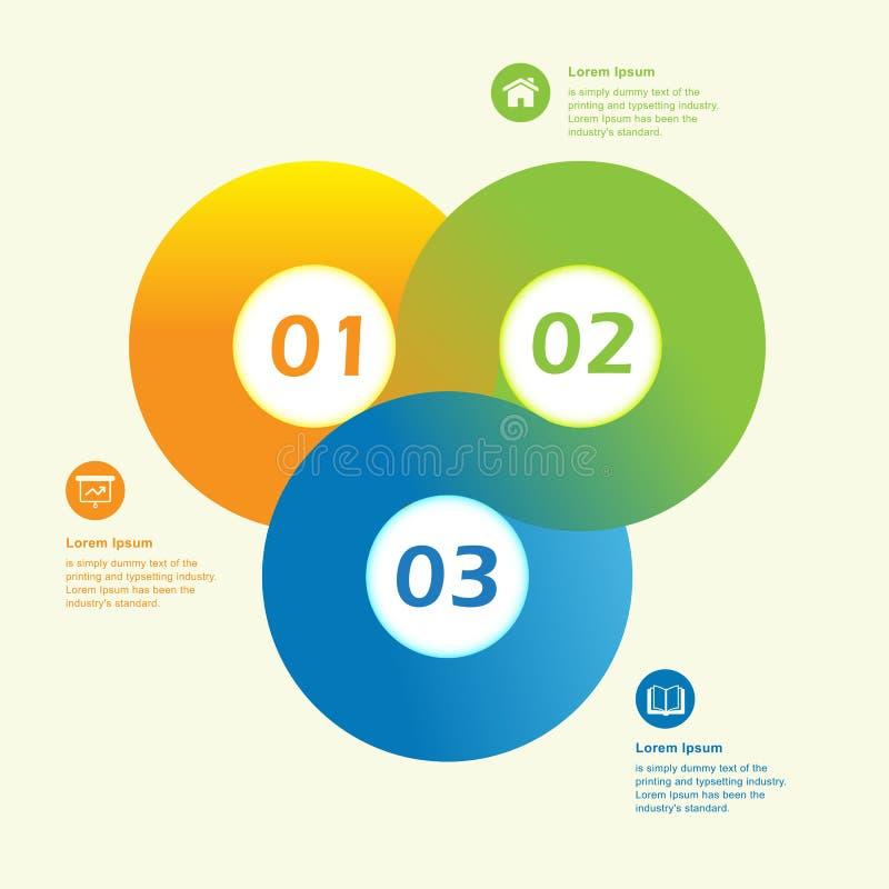 Calibre infographic de conception de cercle moderne illustration libre de droits