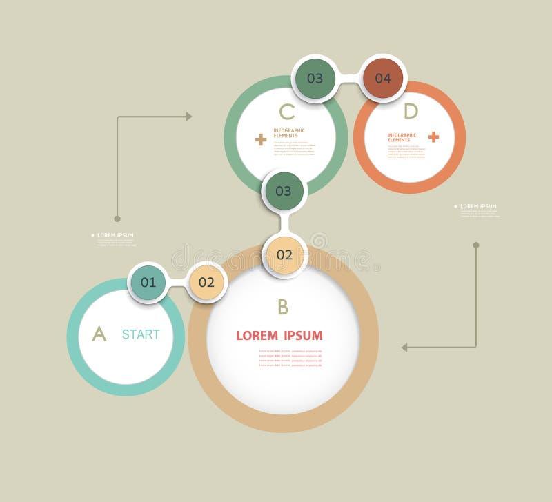 Le calibre simple de conception d'éléments d'Infographics peut être employé pour les bannières numérotées lignes coupées Disposit illustration de vecteur