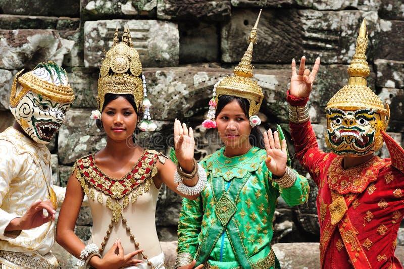 Le Cambodge ; Angkor ; danseur photo stock