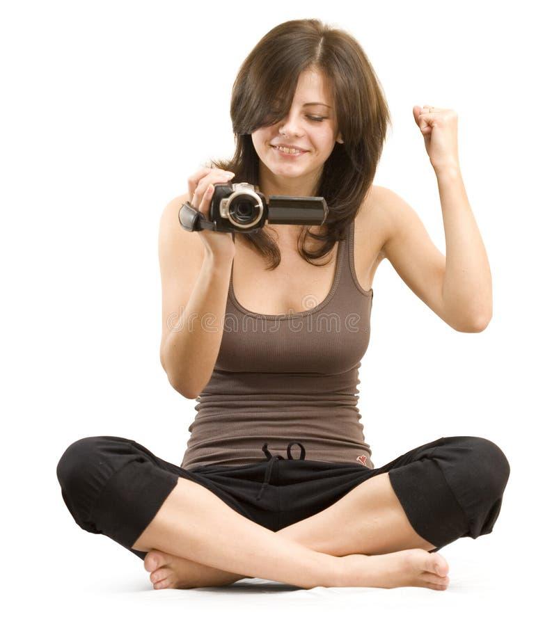 Le cameraman est gagnant image stock