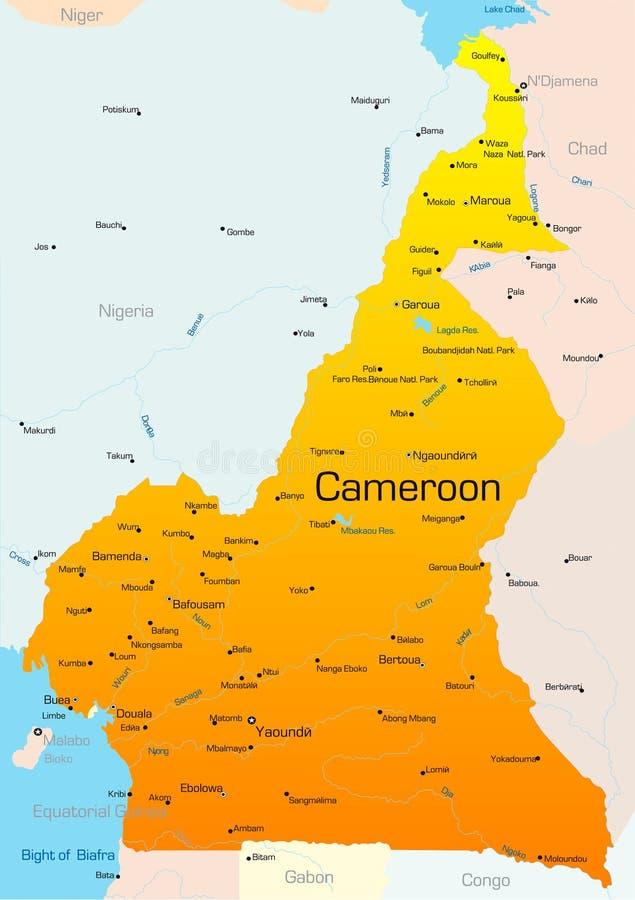 Le Cameroun illustration libre de droits