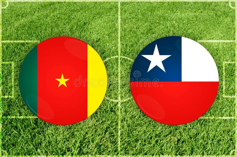Le Cameroun contre le match de football du Chili illustration de vecteur