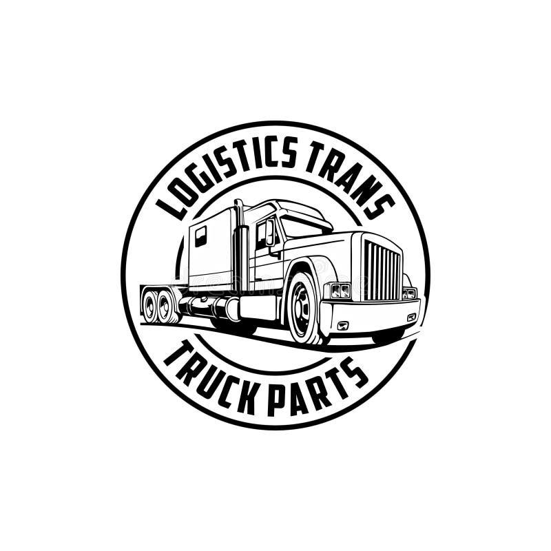 Le camion de transport de logistique partie le vecteur de logo illustration de vecteur