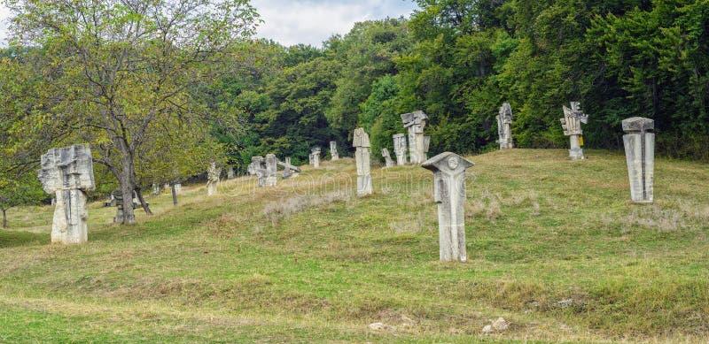 Le camp de sculpture en pierre de Magura images libres de droits