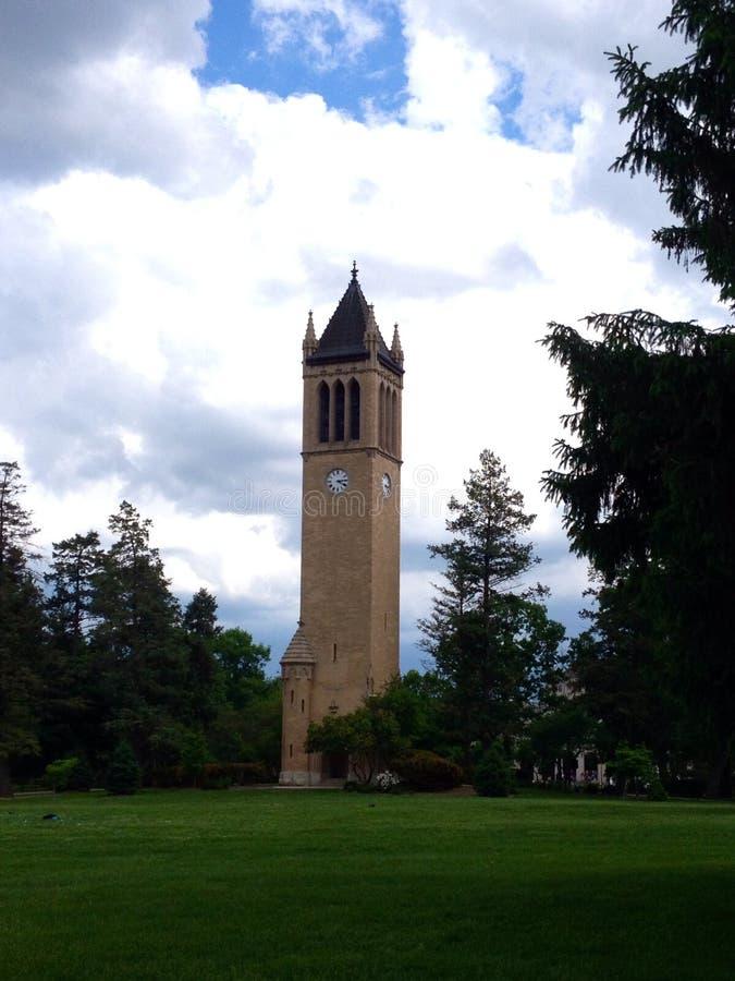 Le campanile à l'université de l'Etat d'Iowa à Ames, Iowa photo stock