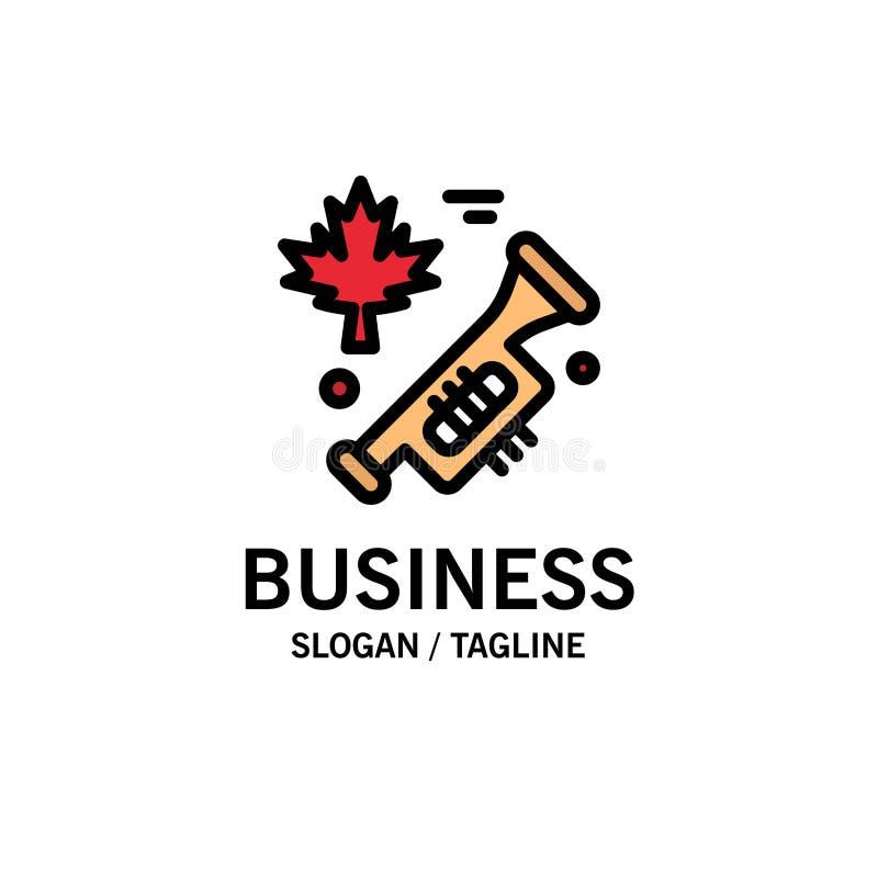 Le Canada, haut-parleur, affaires Logo Template de louange couleur plate illustration libre de droits
