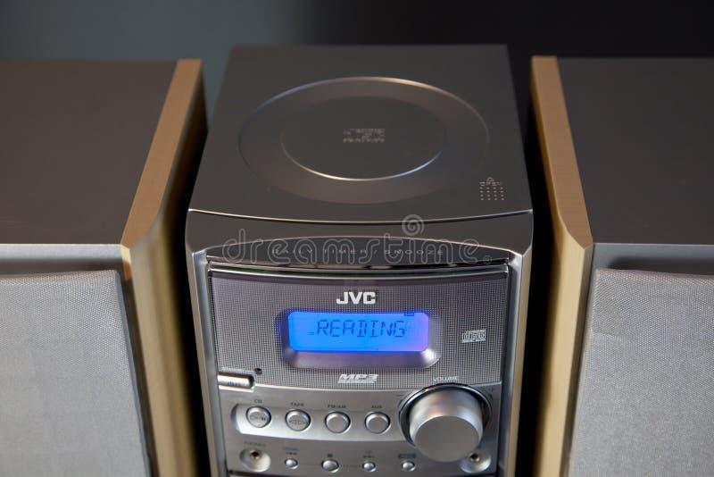 Le CANADA, ONTARIO le 14 avril 2019 - Mini Stereo System composant compact audio JVC photographie stock libre de droits