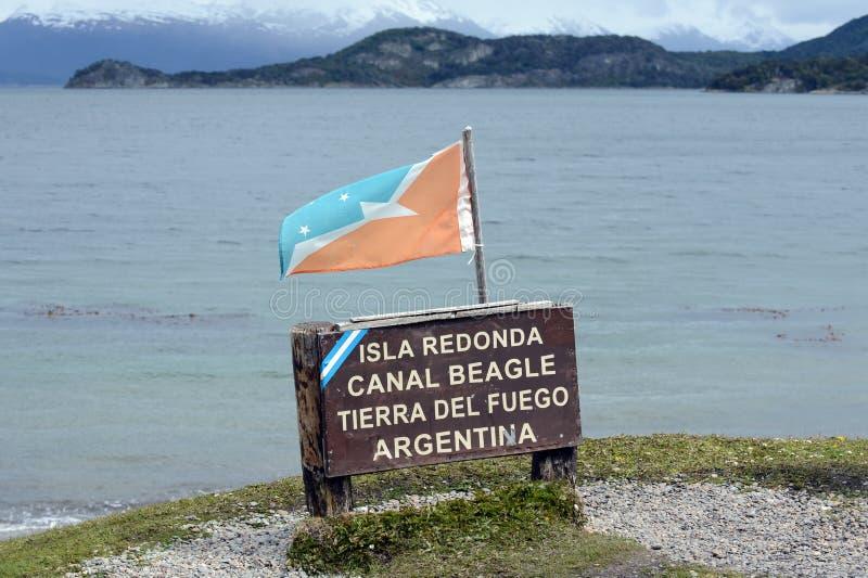 Le canal de briquet en parc national de Tierra del Fuego image stock