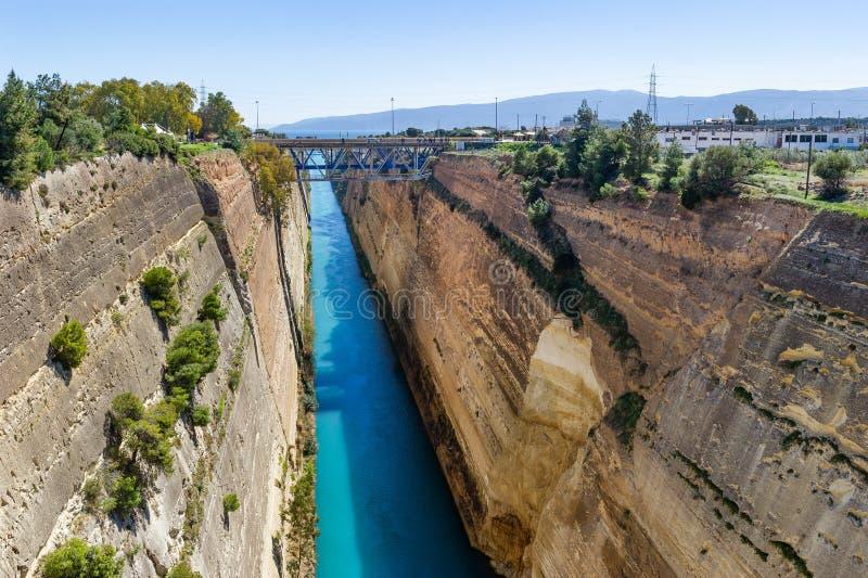 Le canal de Corinthe photographie stock