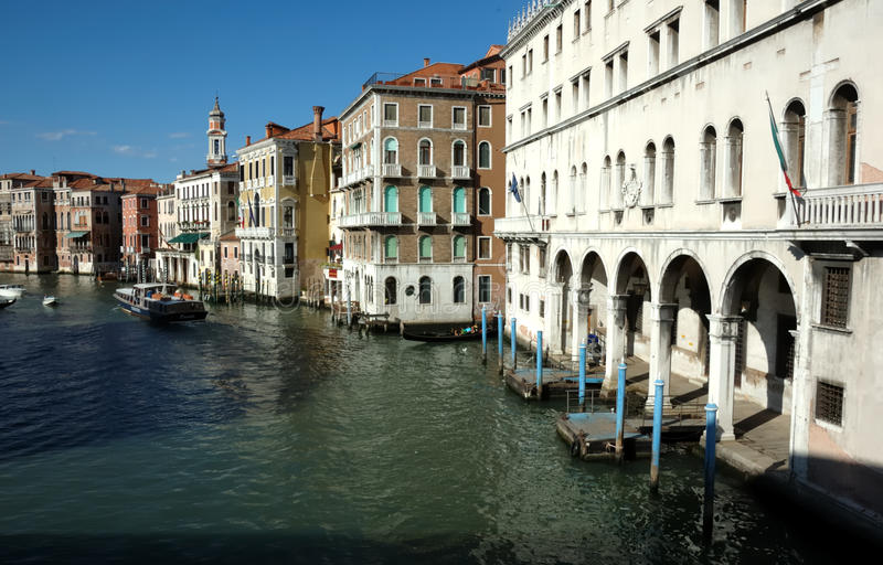 Le canal grand à Venise image stock