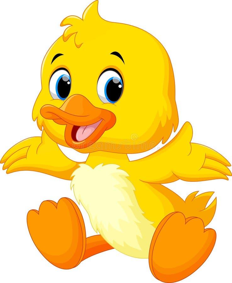 Le canard mignon de bébé a soulevé ses ailes illustration libre de droits