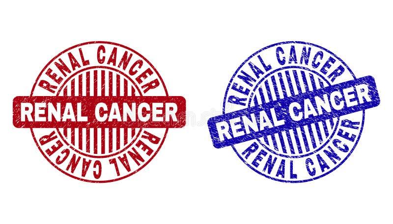 Le CANCER RÉNAL grunge a donné aux filigranes une consistance rugueuse ronds illustration stock