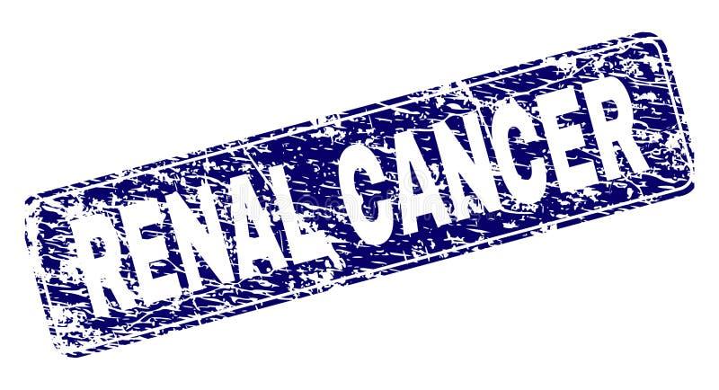 Le CANCER RÉNAL rayé a encadré le timbre arrondi de rectangle illustration stock