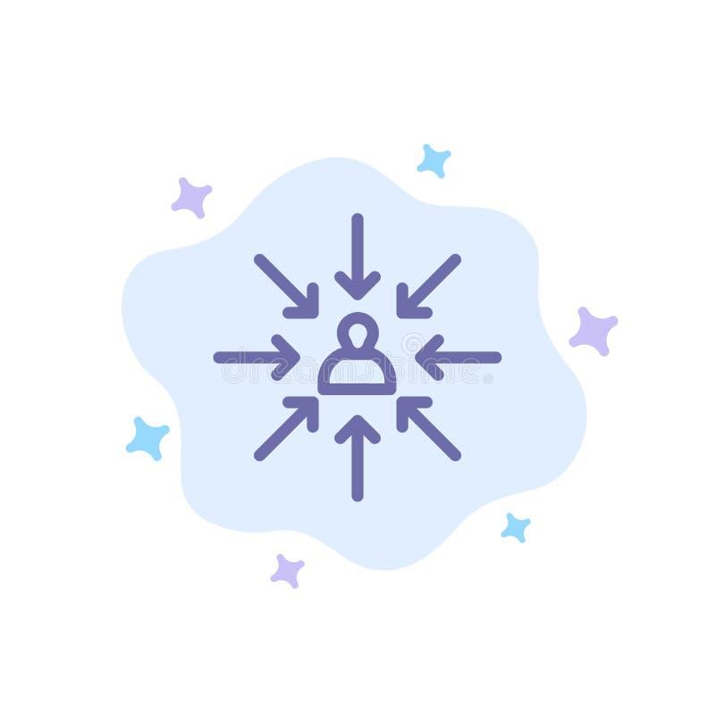Le candidat, choix, choisissent, se concentrent, icône bleue de sélection sur le fond abstrait de nuage illustration de vecteur