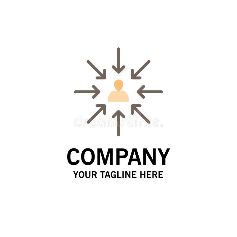 Le candidat, choix, choisissent, se focalisent, des affaires Logo Template de sélection couleur plate illustration stock