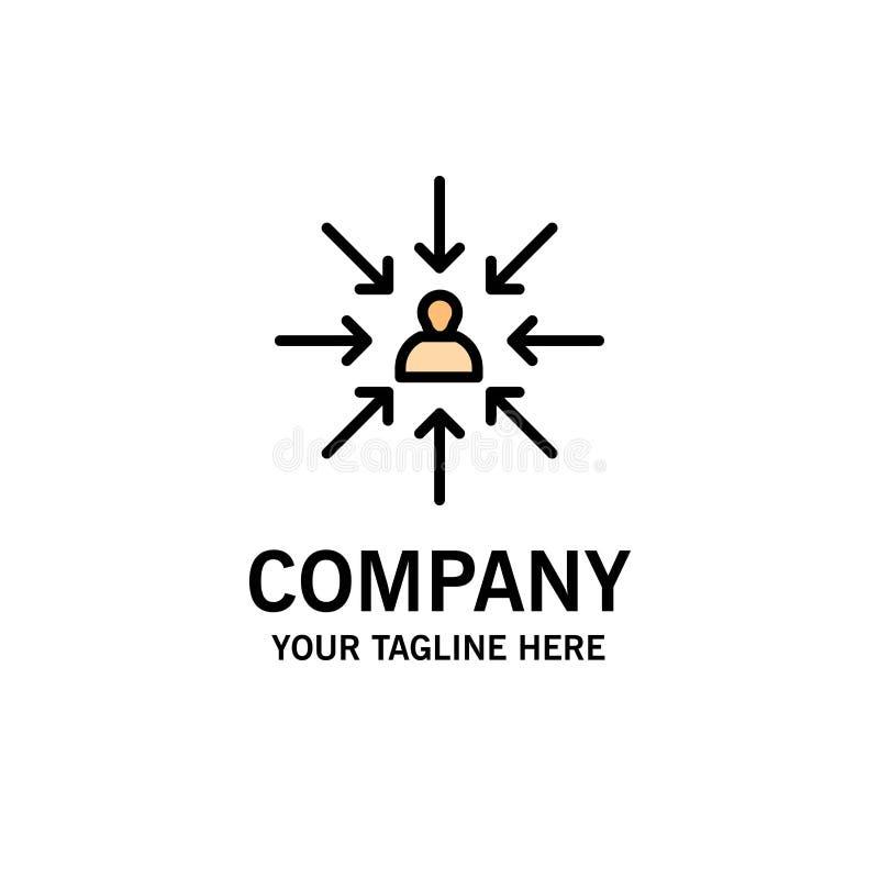 Le candidat, choix, choisissent, se focalisent, des affaires Logo Template de sélection couleur plate illustration libre de droits