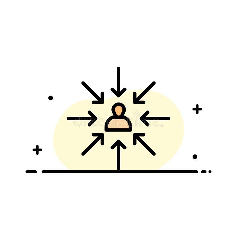 Le candidat, choix, choisissent, se focalisent, ligne plate calibre rempli d'affaires de sélection de bannière de vecteur d'icône illustration libre de droits