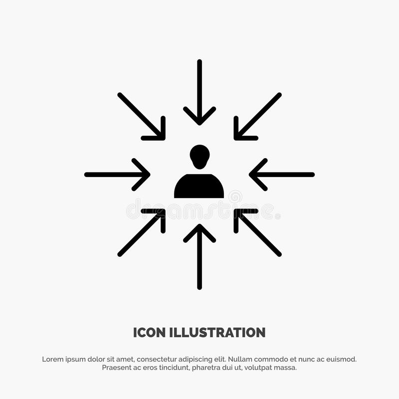 Le candidat, choix, choisissent, se focalisent, vecteur solide d'icône de Glyph de sélection illustration de vecteur