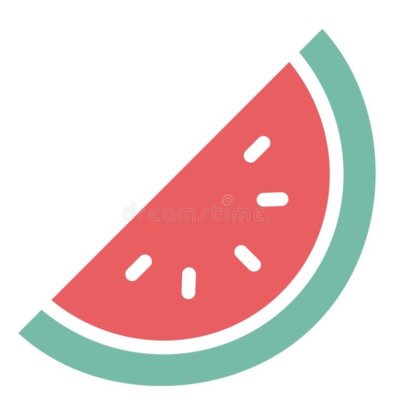Le cantaloup d'impression a isolé l'icône de vecteur qui peut facilement modifier ou éditer illustration libre de droits