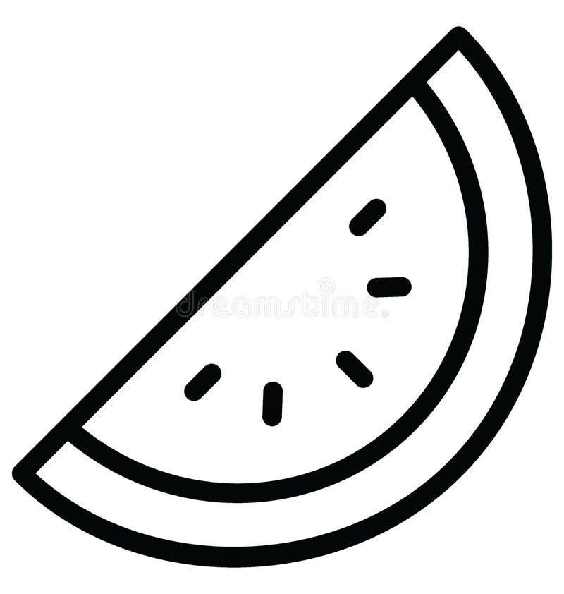Le cantaloup de base de RVB a isolé l'icône de vecteur qui peut facilement modifier ou éditer illustration libre de droits
