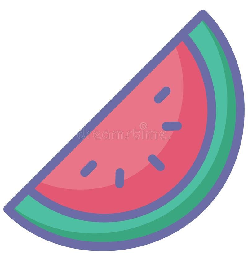 Le cantaloup a isolé l'icône de vecteur qui peut facilement modifier ou éditer illustration stock
