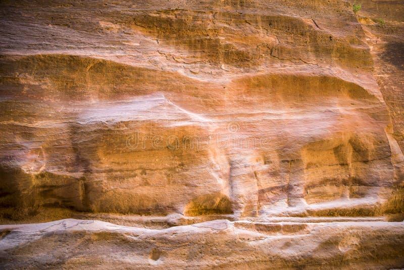 Le canyon coloré de fente de Siq photographie stock libre de droits