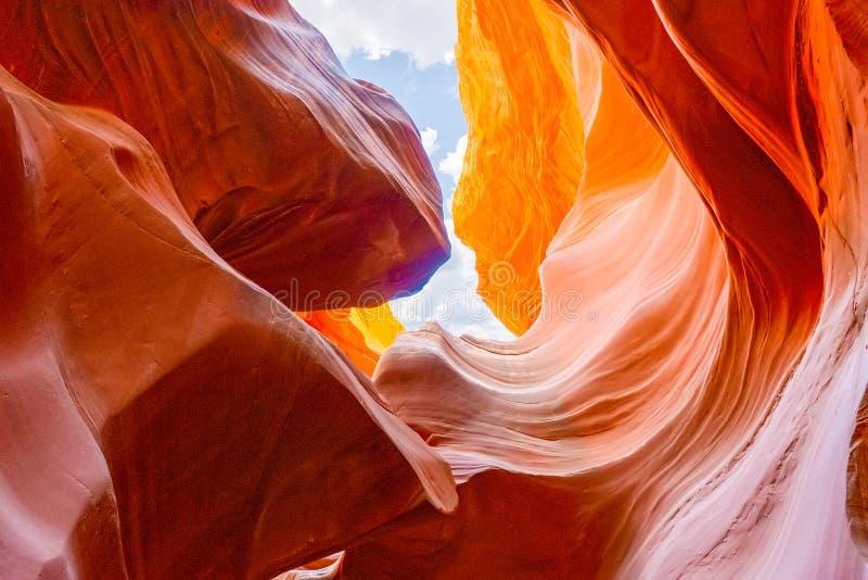 Le canyon d'antilope est un canyon de fente dans le sud-ouest américain photographie stock libre de droits