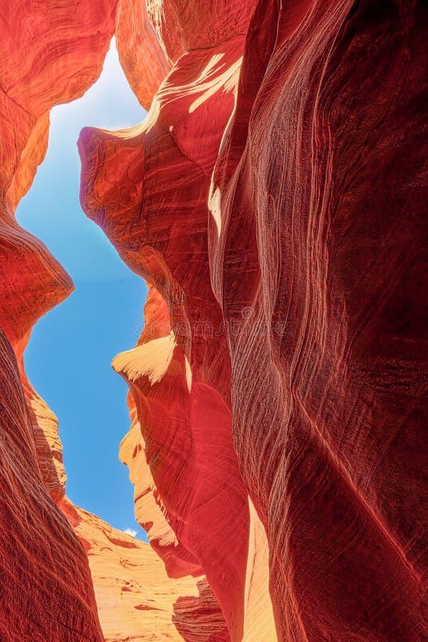 Le canyon d'antilope est un canyon de fente dans le sud-ouest américain images libres de droits