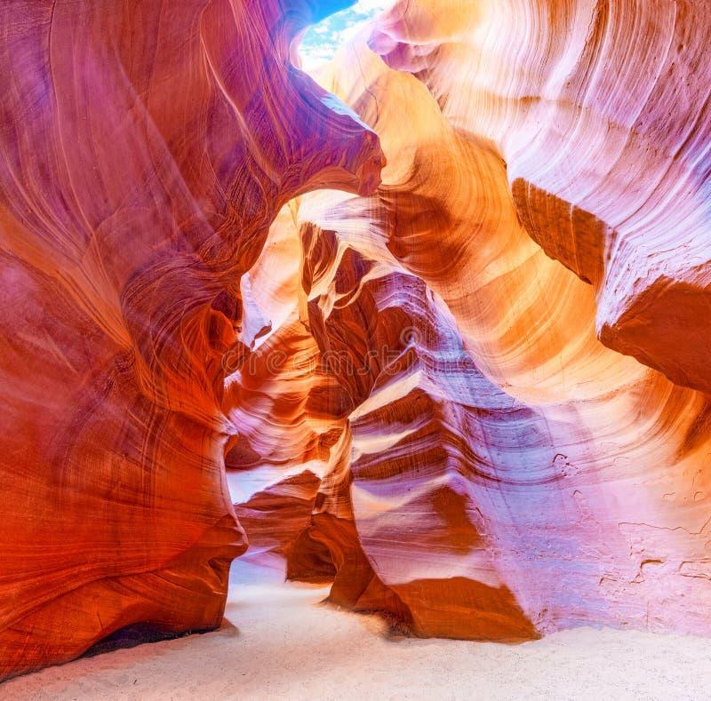 Le canyon d'antilope est un canyon de fente dans le sud-ouest américain photographie stock