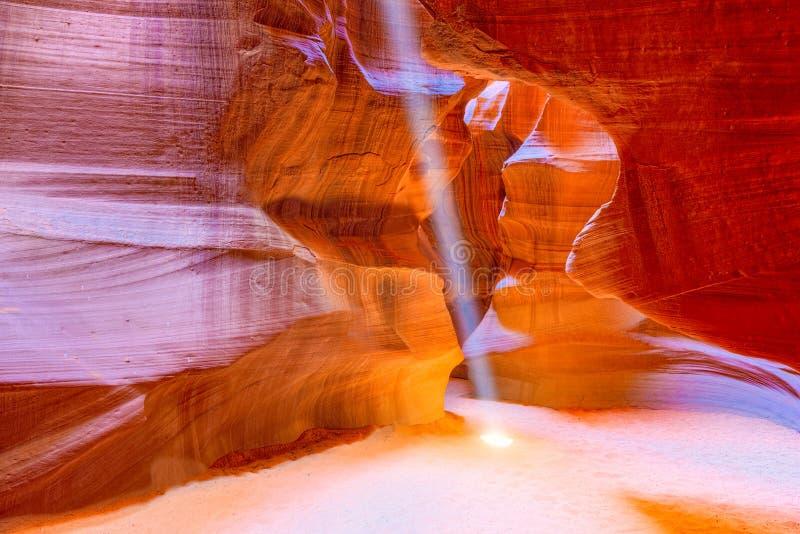 Le canyon d'antilope est un canyon de fente dans le sud-ouest américain photos libres de droits