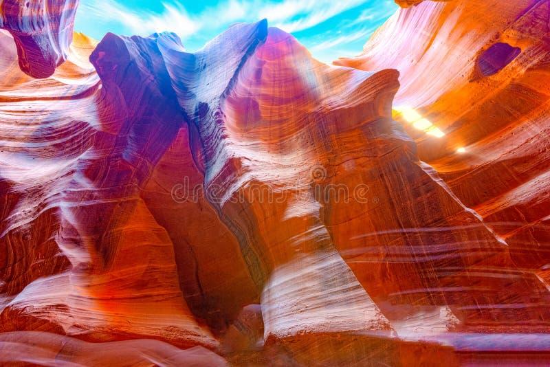 Le canyon d'antilope est un canyon de fente dans le sud-ouest américain image stock