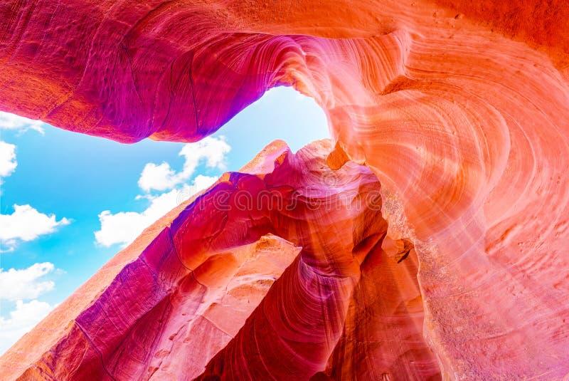 Le canyon d'antilope est un canyon de fente dans le sud-ouest américain images stock