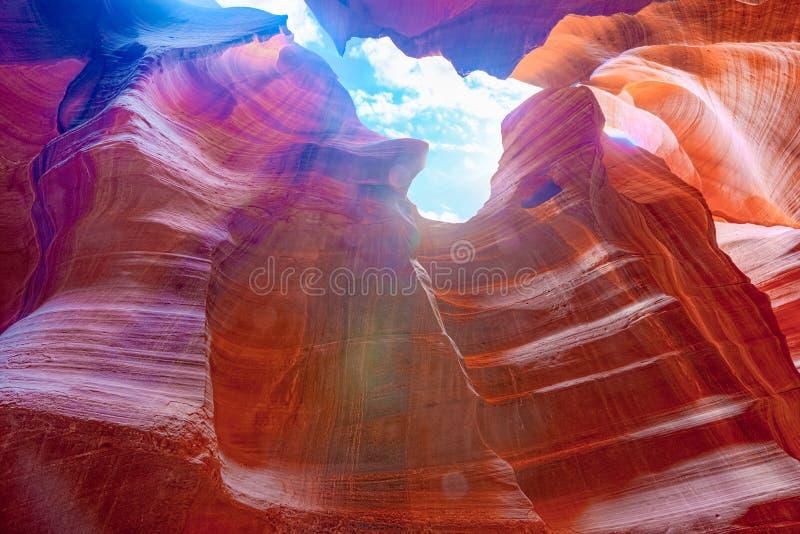 Le canyon d'antilope est un canyon de fente dans le sud-ouest américain photo stock