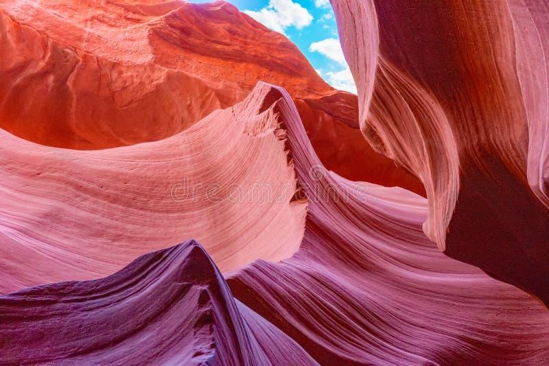 Le canyon d'antilope est un canyon de fente dans le sud-ouest américain image libre de droits