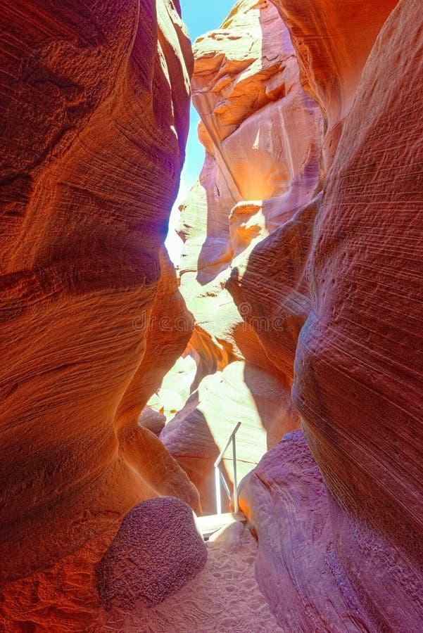 Le canyon d'antilope est un canyon de fente dans le sud-ouest américain photo libre de droits