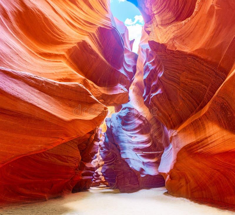 Le canyon d'antilope est un canyon de fente dans le sud-ouest américain photos stock