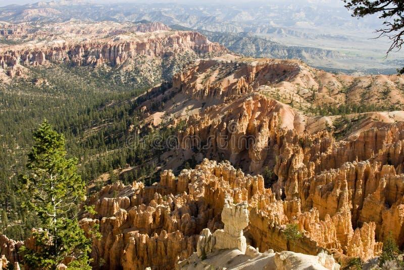 Le canyon de Bryce donnent sur photos libres de droits