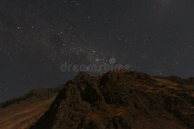 le canyon de Colca par nuit photo libre de droits