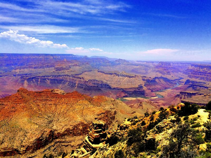 Le canyon grand image libre de droits