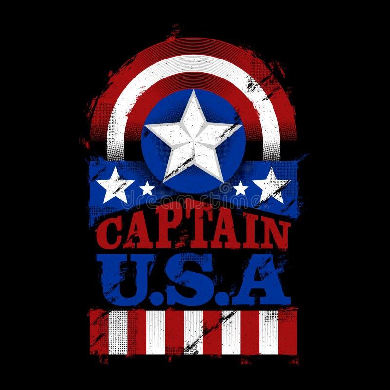 Le capitaine U S a illustration de vecteur