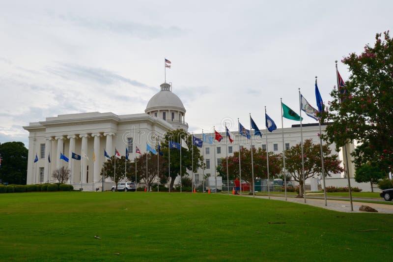 Le capitol d'état de l'Alabama image stock