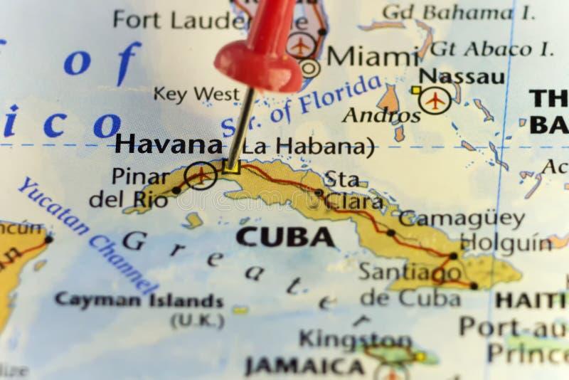 Le Capitol De La Havane Du Cuba A Goupillé La Carte Illustration
