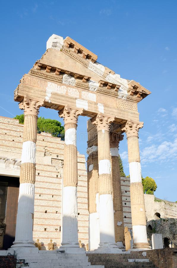 Le Capitolium, Brescia images stock