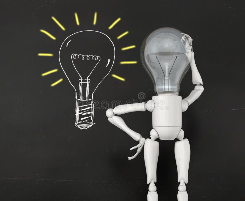 Le caractère de lampe est perplexe illustration de vecteur